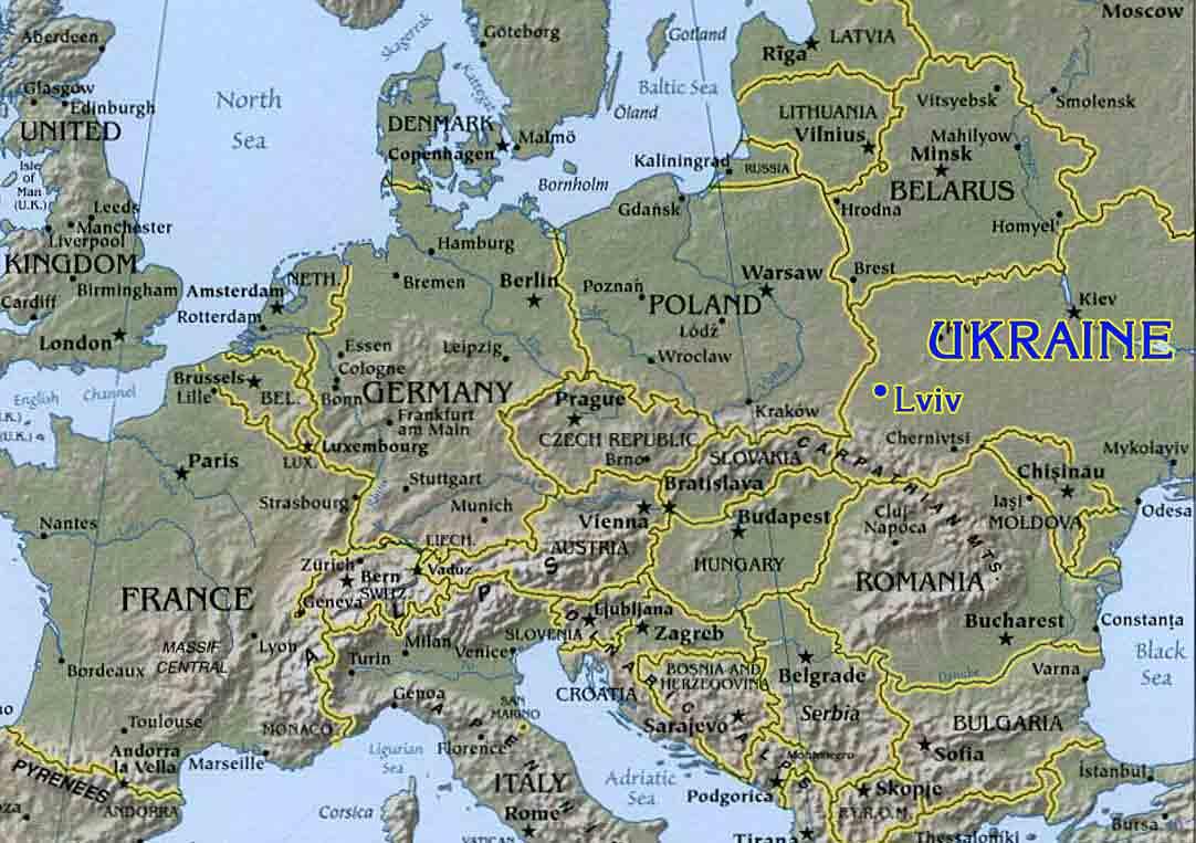 Satellite map of Ukraine : Google™ — share any place ...